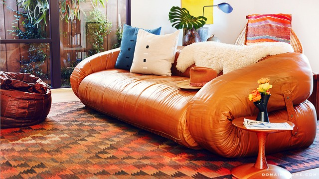 Moon Juice: Anfibio Leather Sofa