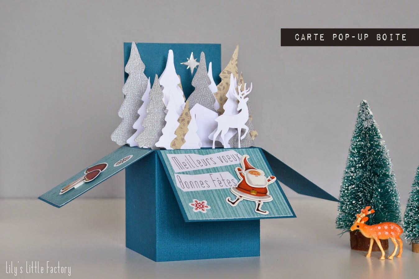 Souvent Meilleurs Vœux : Une Carte Pop-Up Boite | Lily's Little Factory  IL35