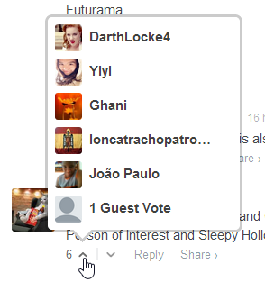 You can now see who Voted Up your @Disqus comments