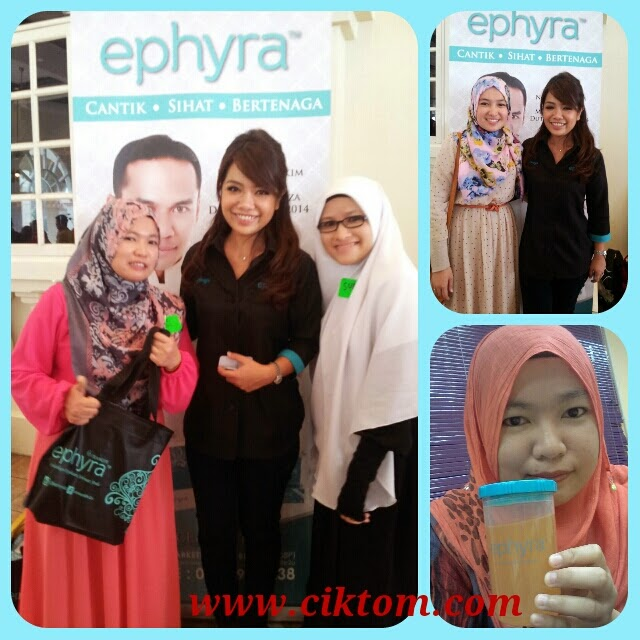 Cik tom, Suri sempat beramah mesra dengan Kak Miza di booth Ephyra SBB2014