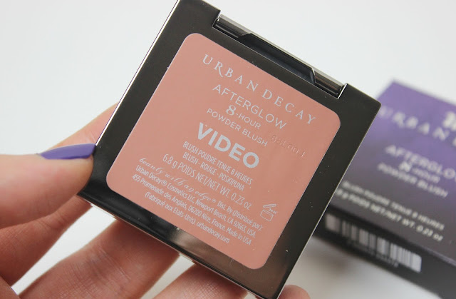 A picture of Urban Decay Afterglow 8-Hour Powder Blush in Video