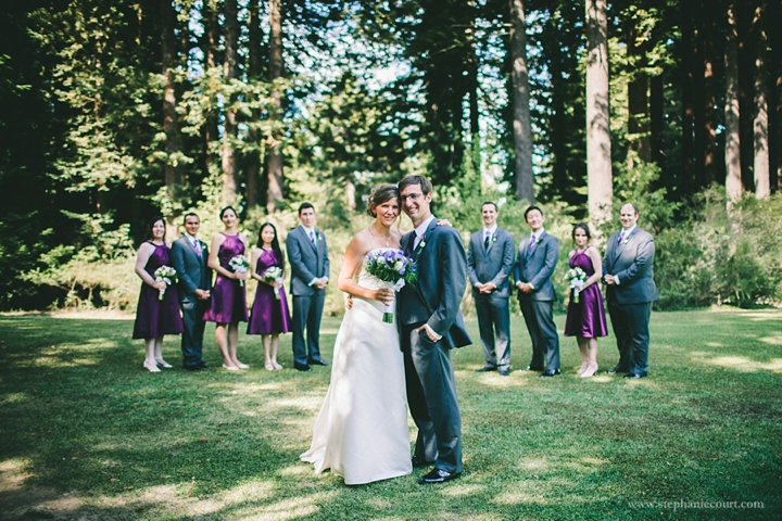 """""""wedding party photo in redwoods of california"""""""