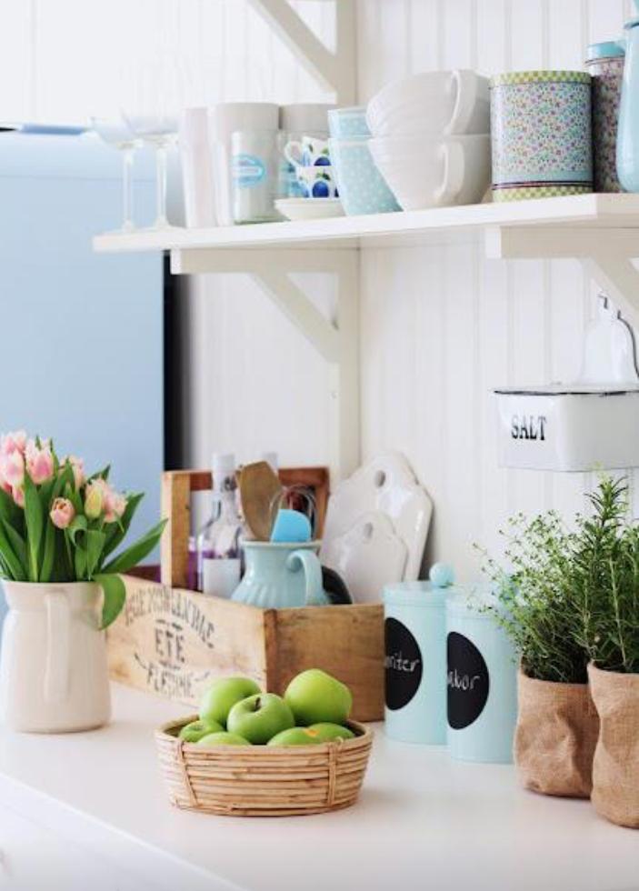Placer por hacer estantes para la cocina for Estantes para cocina pequena