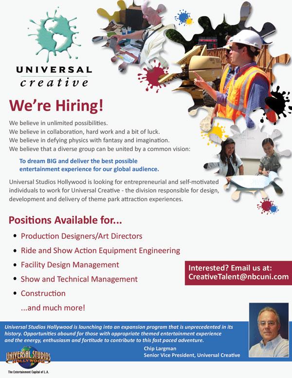 TEA Connect : Universal Creative is hiring!