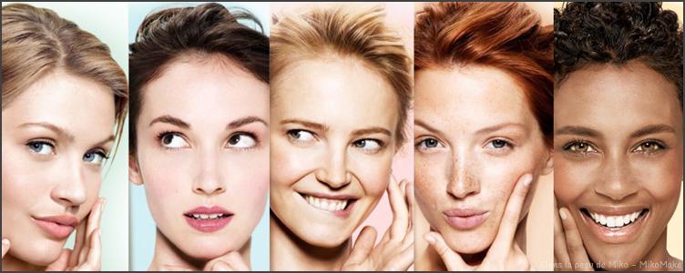 Quelle est la couleur de la peau de mon visage : teint, carnation, teinte, sous ton, maquillage