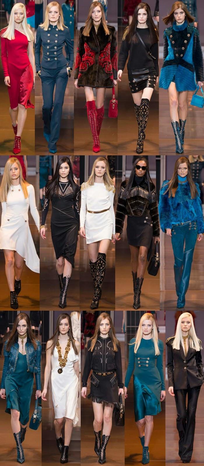 Versace fall winter 2014 runway collection, FW14, AW14, MFW, Milan fashion week, Donatella Versace