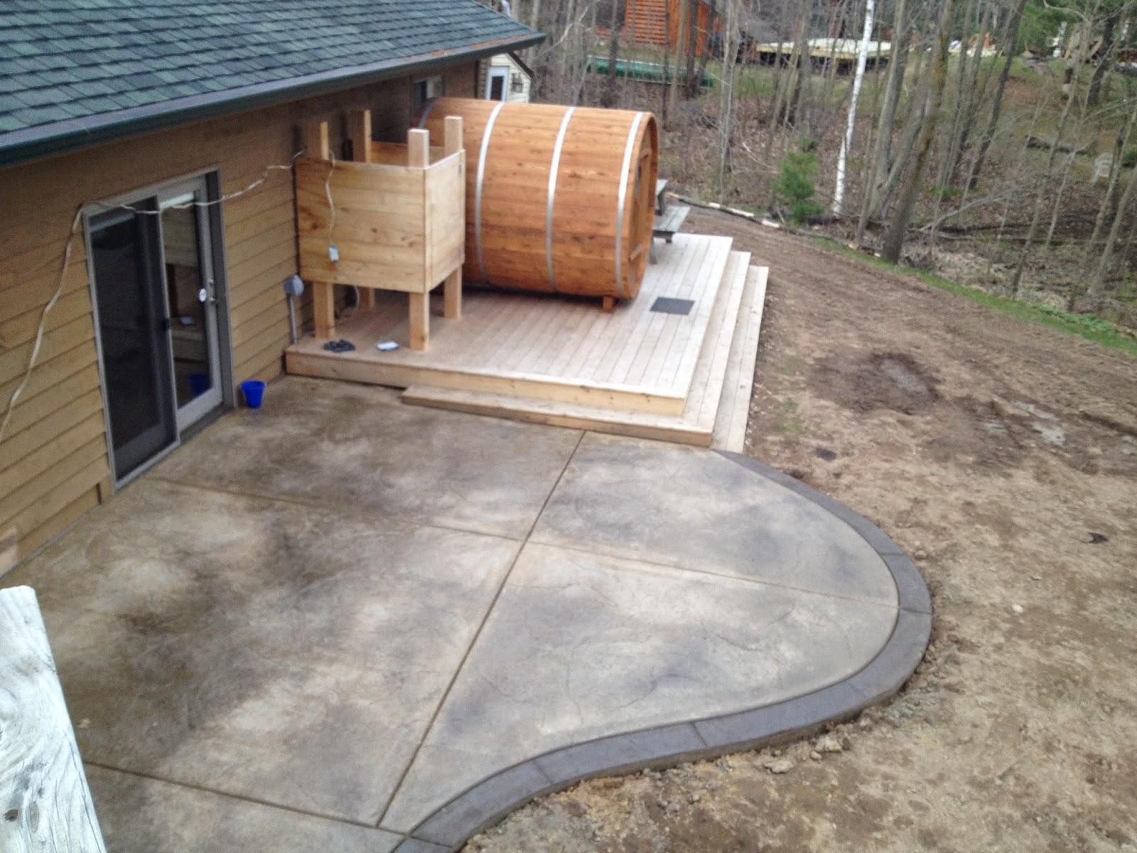 Live Inside My Bubble Cabin Renovations Patio Backyard