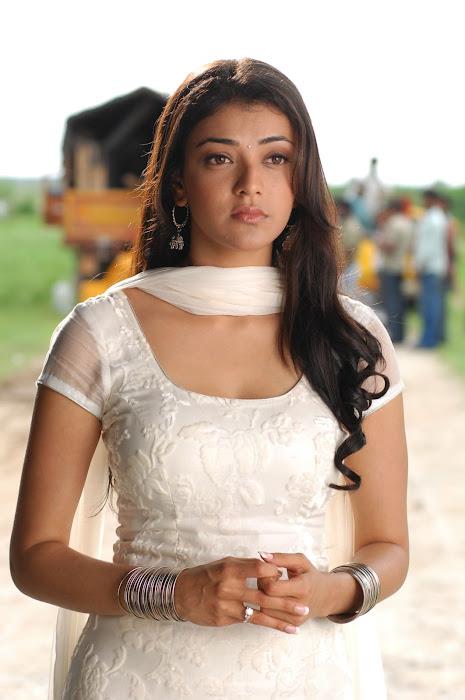 kajal agarwal in white salwar