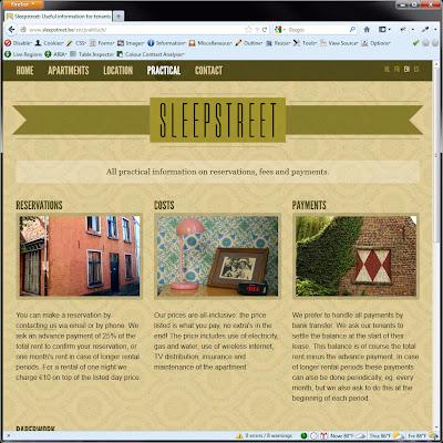 Screen shot of http://www.sleepstreet.be/en/praktisch/.