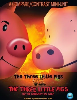 http://www.teacherspayteachers.com/Product/The-3-Little-Pigs-vs-The-Three-Little-Pigs-the-Somewhat-Bad-Wolf-Mini-Unit-1136235