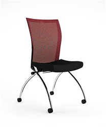 Armless Valore Nesting Chair with Mesh Back by Mayline