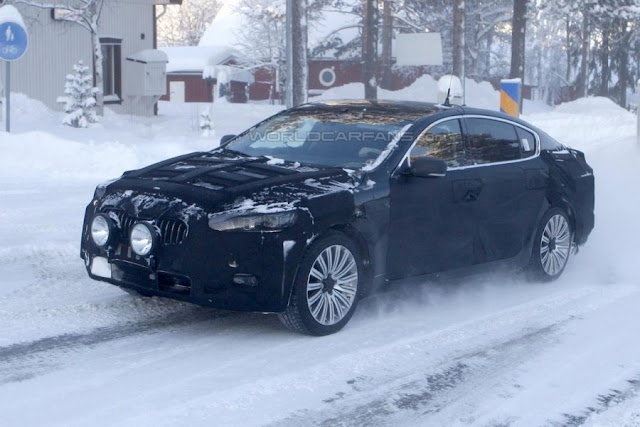 Prototype Kia K9 caught spy photos   New Car Quotes  Buy Used Cars