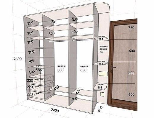 Встроенный шкаф купе своими руками чертежи - Ross-plast.ru