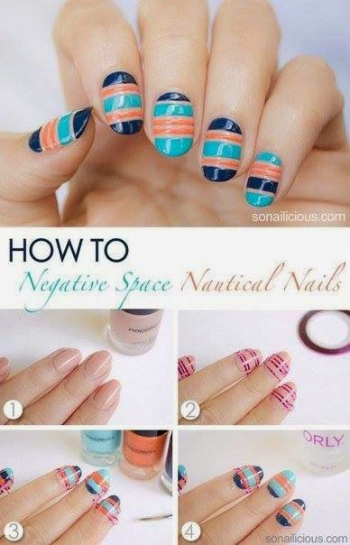 Nails Art Step By Step Tutorial #12..