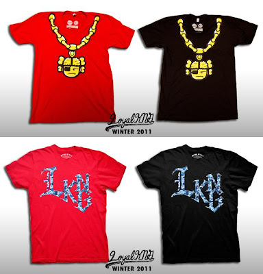 "Loyal K.N.G. Winter 2011 T-Shirt Collection - ""Atama Chain"" & ""L.K.N.G. Script"" T-Shirts"