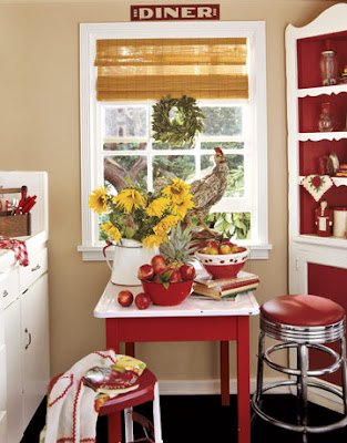 8 best images about Red and white shabby chic kitchen on Pinterest
