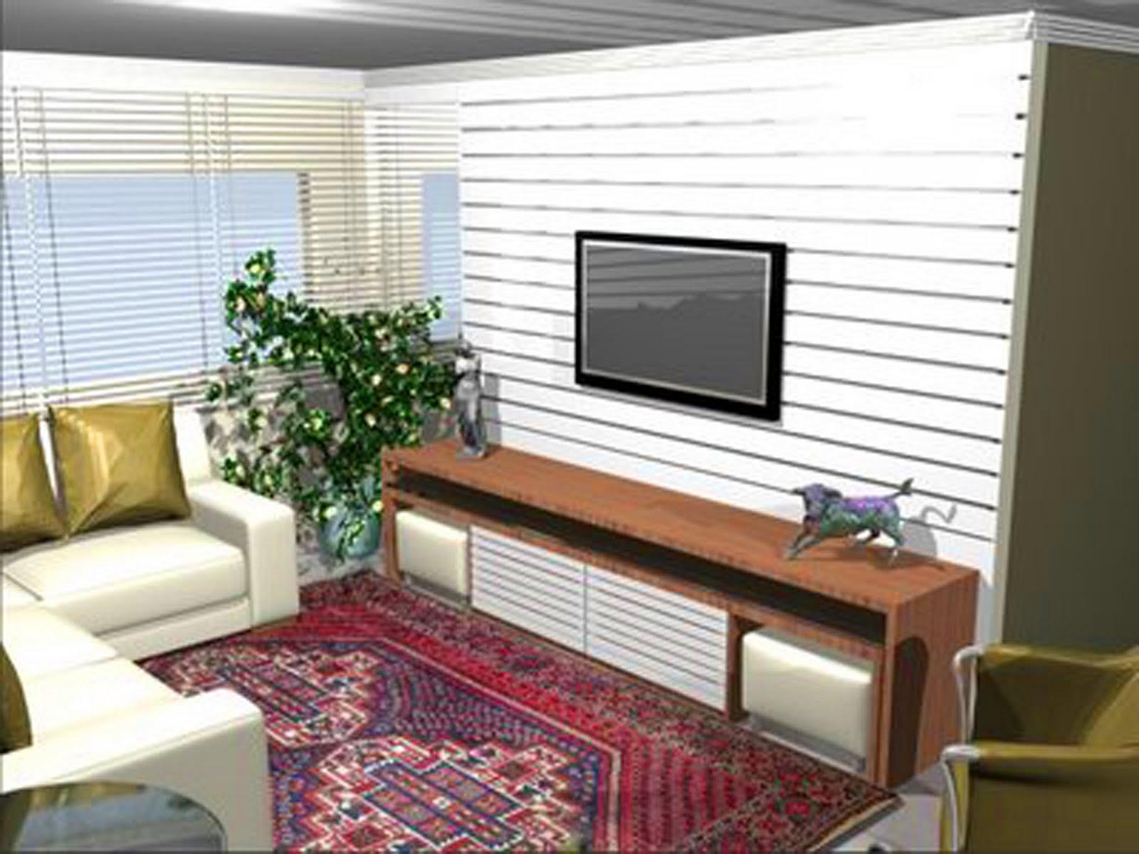 Estante De Gesso Para Sala De Tv Na Estante Foram Criados Dois  -> Estante Gesso Sala Tv
