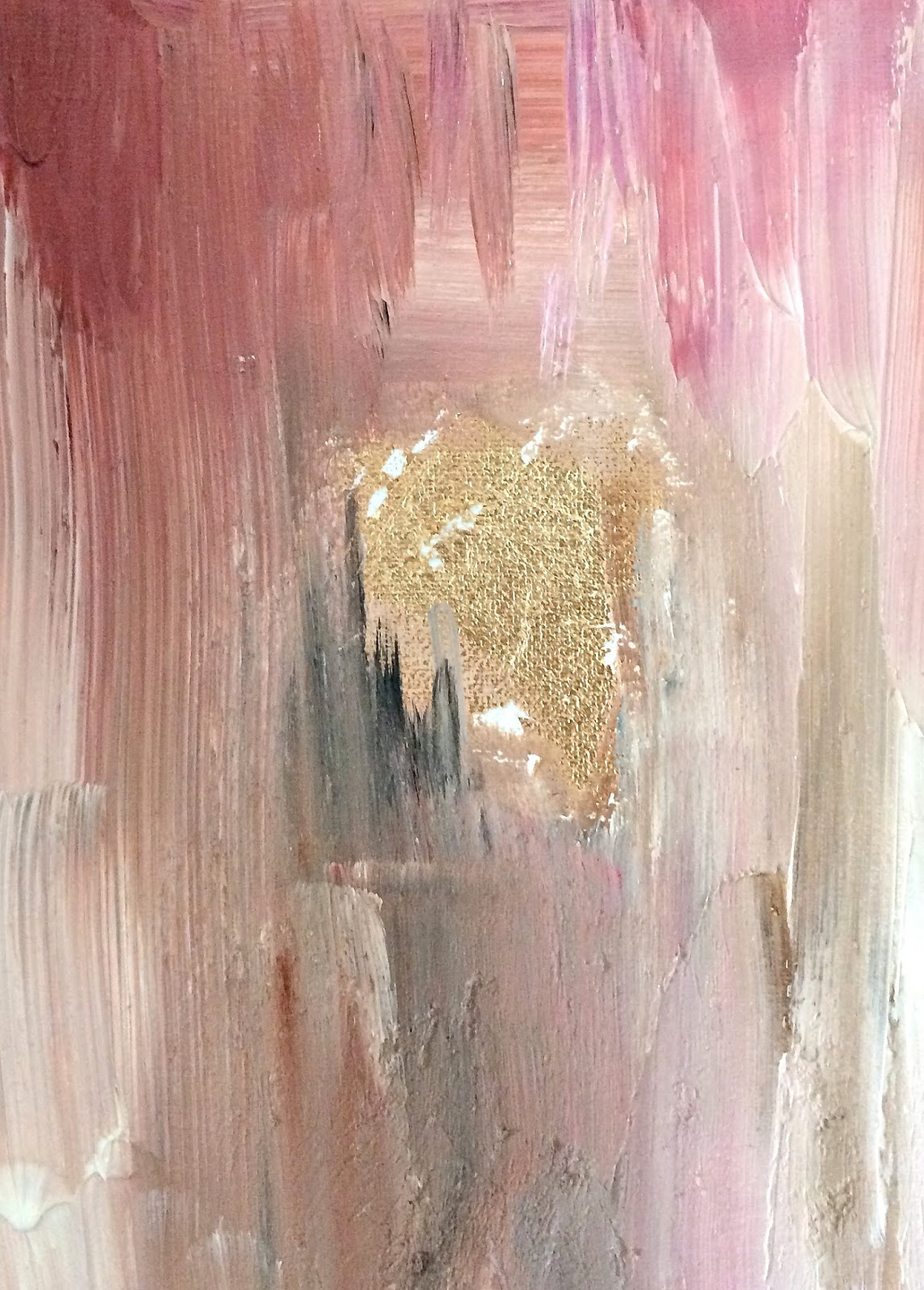 How to make diy gold leaf abstract art livelovediy for Gold paintings on canvas