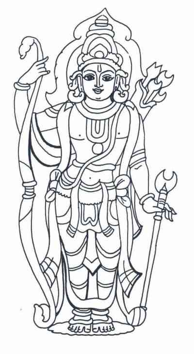 lakshmi coloring pages - sri lakshmi narasimhar hindu god pictures printable for