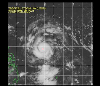 tormenta tropical Utor (labuyo), 10 de Agosto 2013