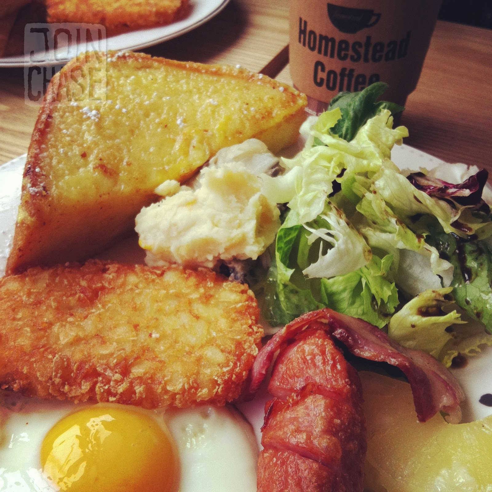 Brunch at Homestead Coffee in Itaewon, Seoul, South Korea.