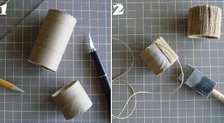 Tutorial: Anillos para servilletas con tubos de papel higiénico