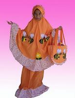 mukena anak cantik motif kartun lebah