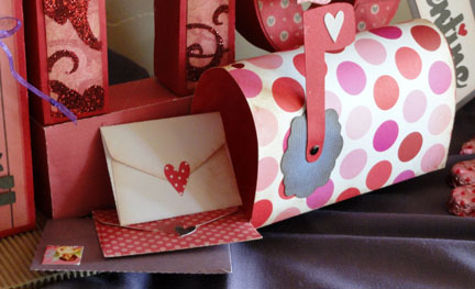 Needles n Knowledge Be MINE Valentine 3d Letter Box Project