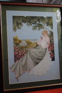 Lavender & Lace L&L Nantucket Rose Cross Stitch Finish