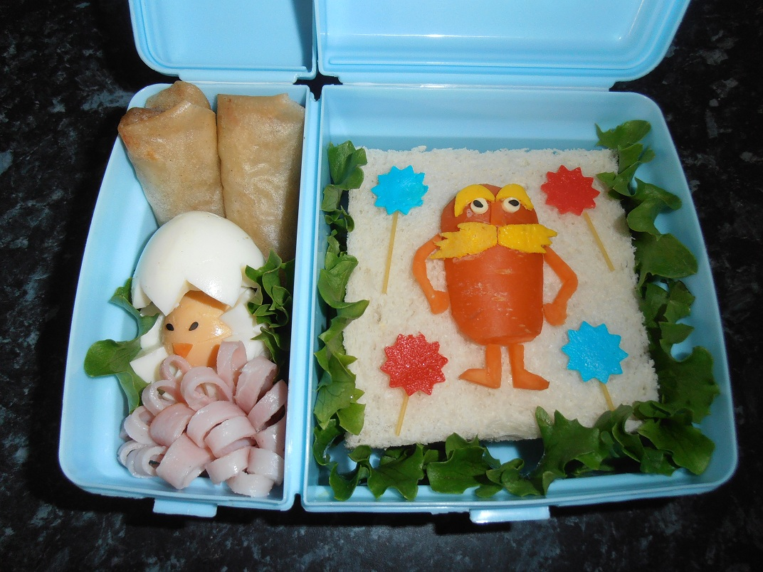 Sandwich with Lorax and Spring Roll