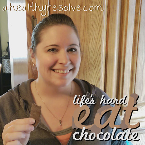 Life's hard. Eat Chocolate! - Enjoy this yummy guilt-free chocolate recipe!
