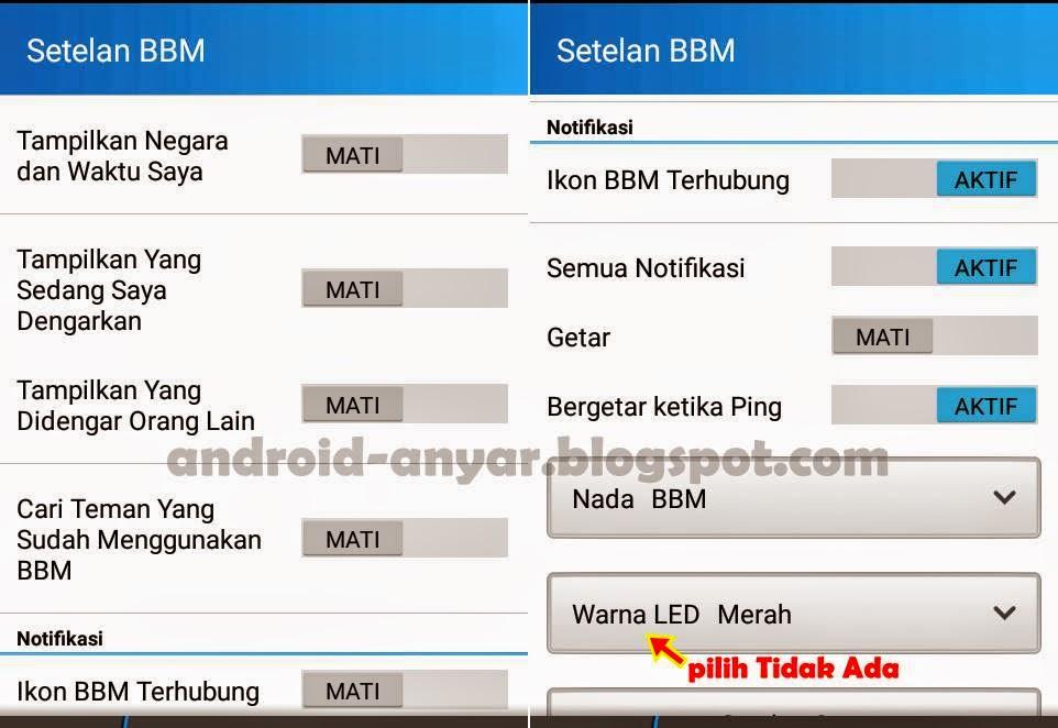 Pengaturan BBM Android agar tidak lemot