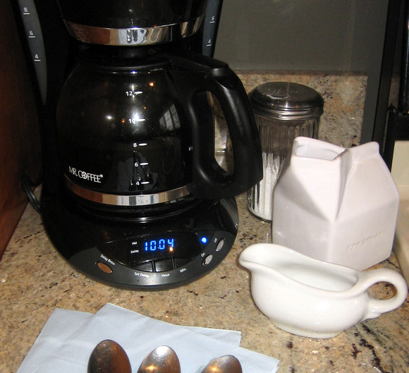 A coffee station at any breakfast get-together is a must.