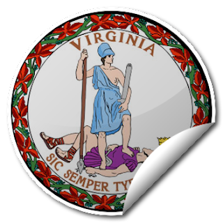Sticker of Virginia Seal