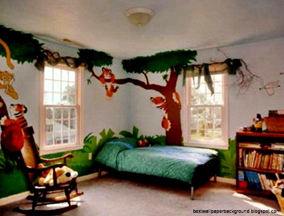 Bedroom Creative Tree Paint Bedroom Kids Color Wall Murals Ideas