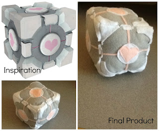 Stuffed companion cube