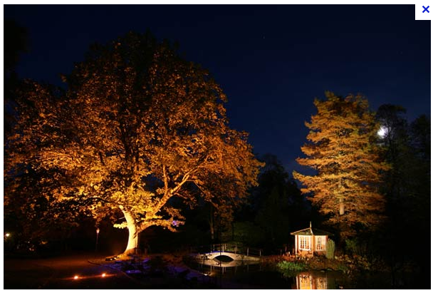 Måln]pyssel, husrenovering och våra två prinsessor: Trädgårdsbelysning