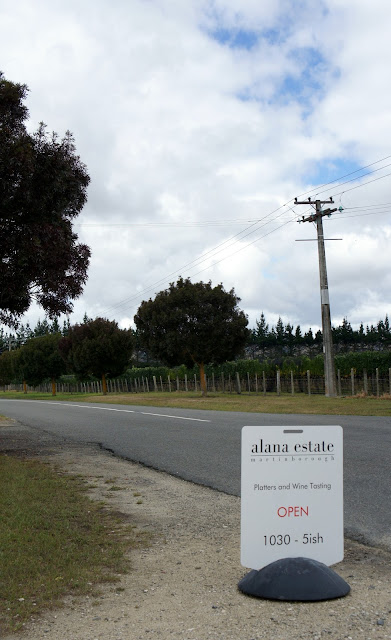 Sign outside Alana Estate - Martinborough