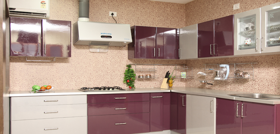 Aamoda kitchen accessories used in single wall modular for Aluminium kitchen cabinets hyderabad