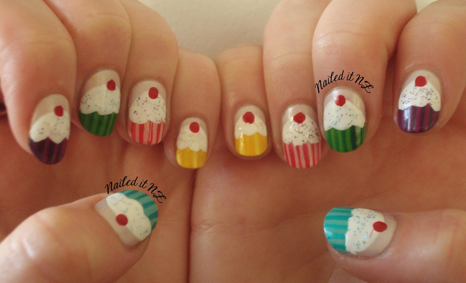 Nailed It NZ: Nail art for short nails #6: Cupcake Nails