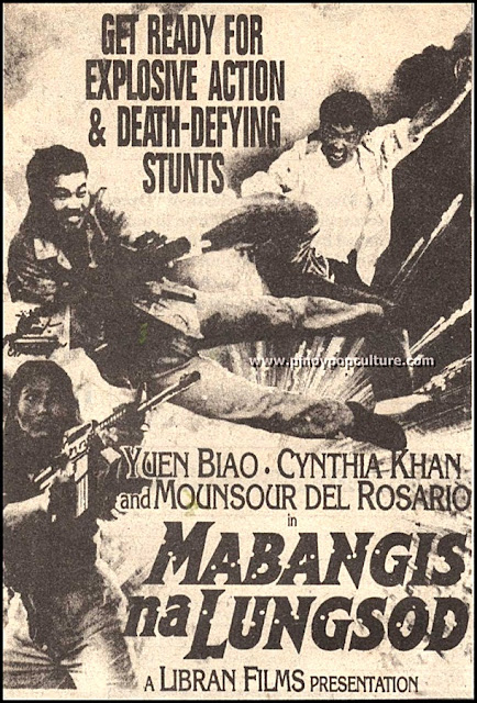 Mabangis na Lungsod, movies, Yuen Biao, Cynthia Khan, Monsour del Rosario