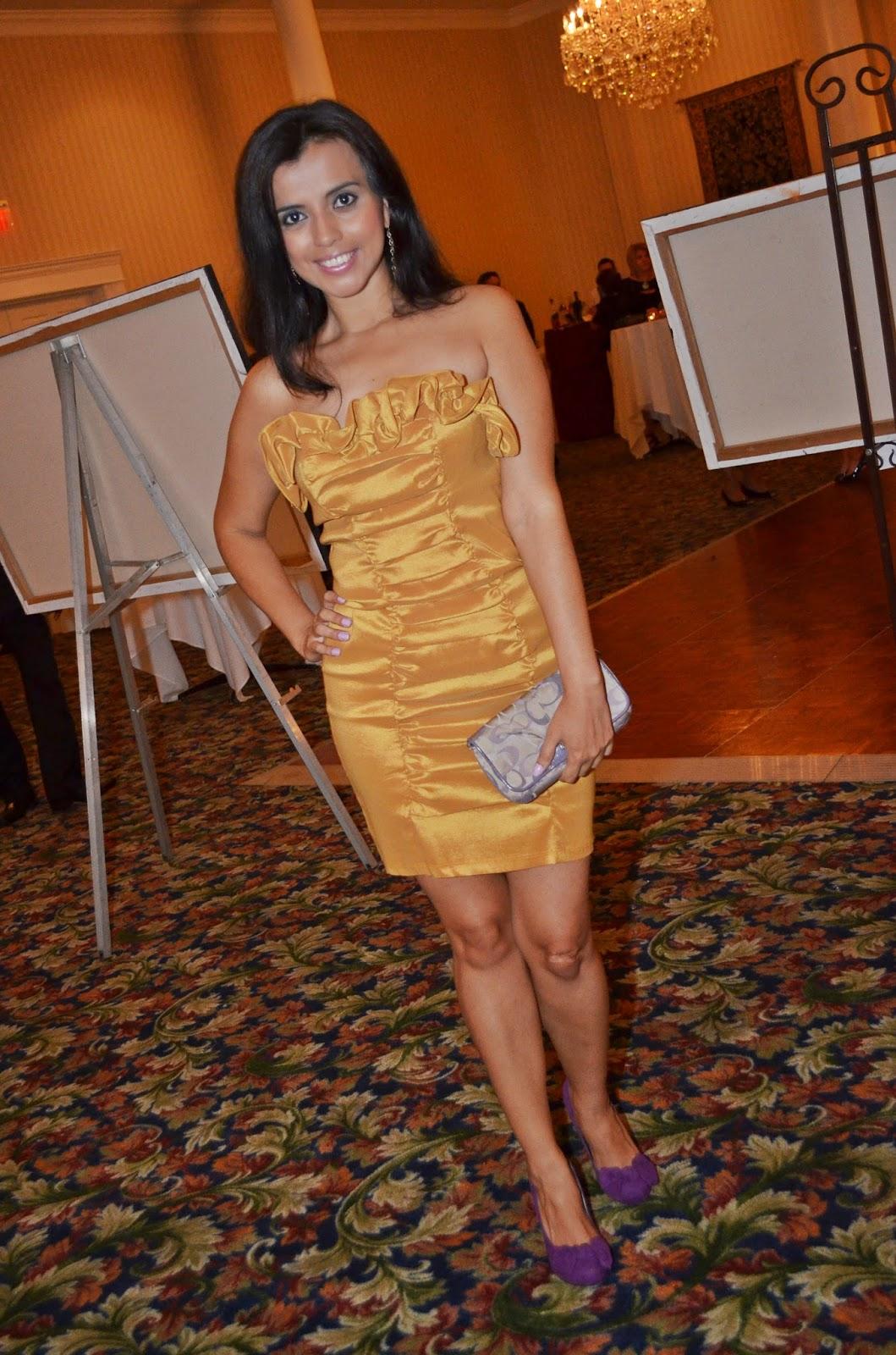 Outfit color block para la noche