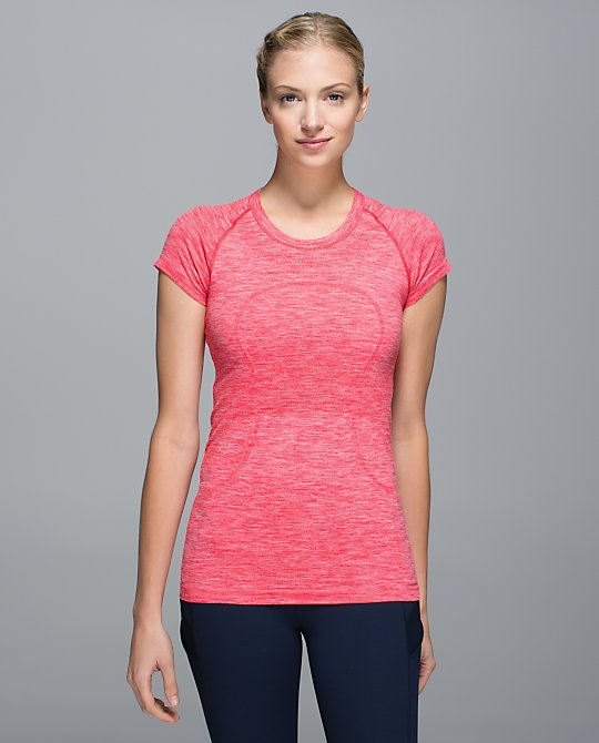 lululemon atomic red swiftly ss