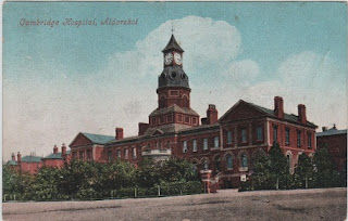 Vintage postcard of Cambridge Hospital, Aldershot