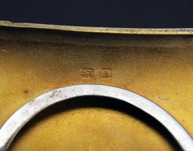 ANTIQUE 20thC ART DECO SOLID SILVER SECRET COMPARTMENT CIGARETTE CASE c.1925