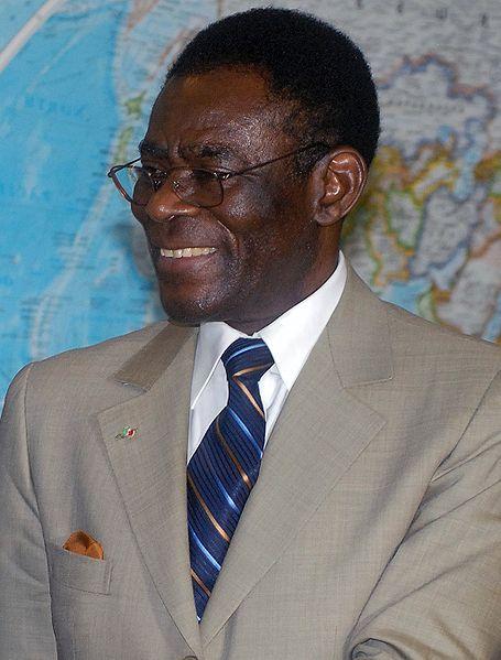 Teodoro Obiang, presidente de Guinea ecuatorial desde Agosto 3 de 1979,