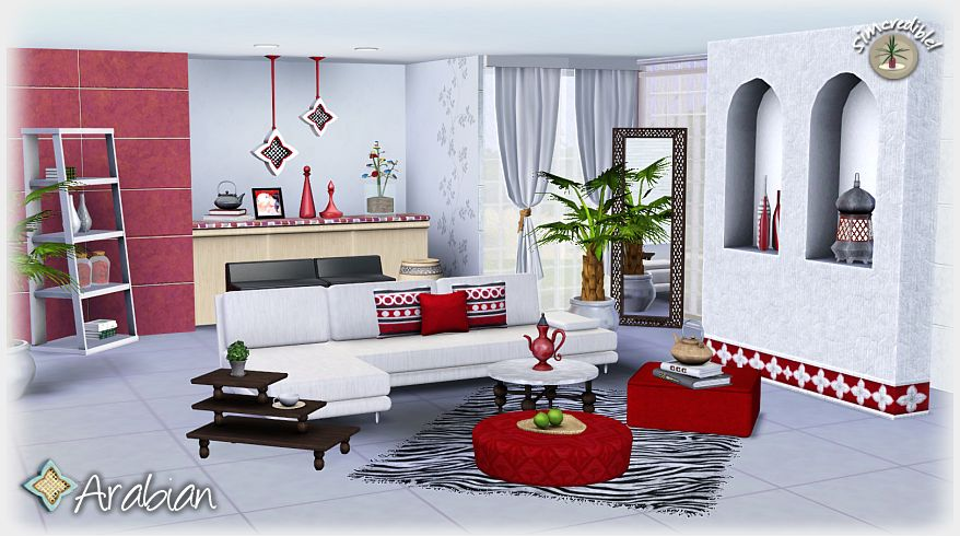 My sims 3 blog arabian living room set by simcredible designs for Sims 3 living room sets