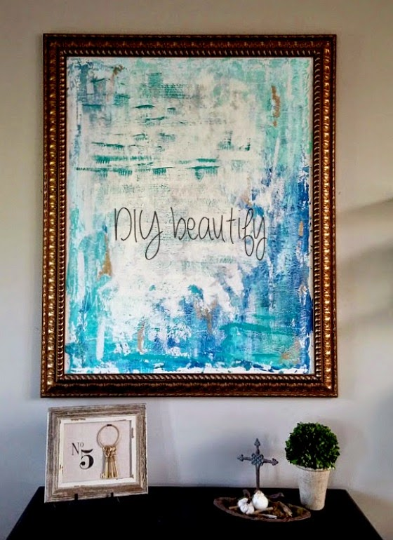 How to paint a DIY abstract! www.diybeautify.com