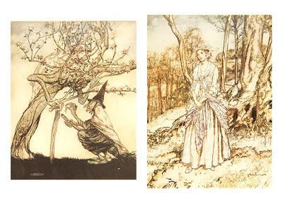 Открытки с иллюстрациями Артура Рэкхема