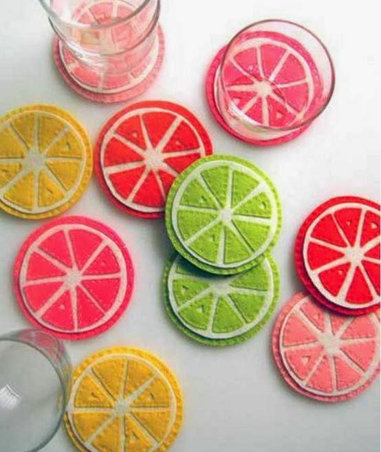 Diy Cute Citrus Felt Coaster The Idea King